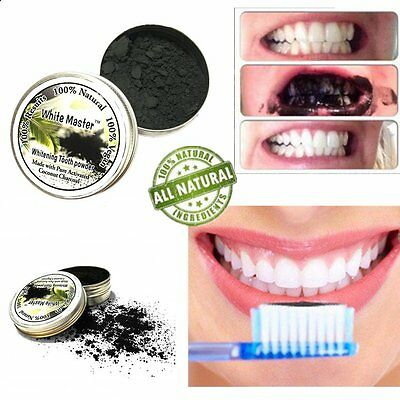 30G 100% Natural Activated Charcoal Whitening Tooth Teeth Powder Toothpaste HF