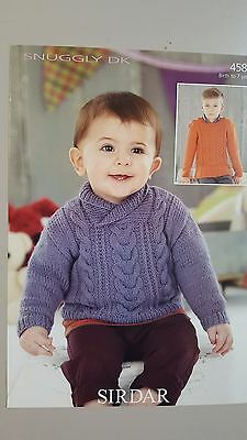 Sirdar Knitting Pattern #4584 Baby & Child's Cable Jumper to Knit 0-7 Years