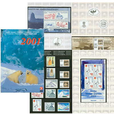 Greenland Post Official Complete Year Pack Set Yearbook 2001 MNH CV$60