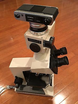 Olympus BH-2 Microscope With Camera and adapter