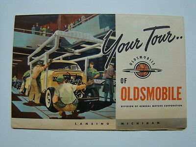 """Your Tour of Oldsmobile"" Factory Booklet Lansing Michigan & New Models 1952"