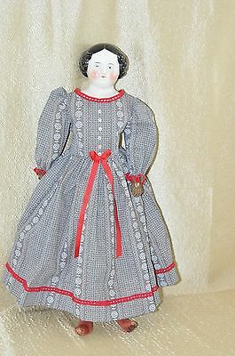 Antique 22 in.1860s Fine Example of a Kestner China Head Doll