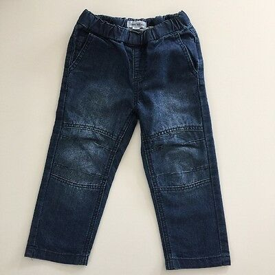 CHARLIE & ME Size 2 Boys Blue Lightweight Denim Pull On Jeans Pants EUC