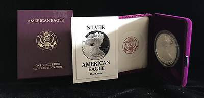 1993 Proof American Silver Eagle (ASE) Silver Dollar in OGP (ASE1993)