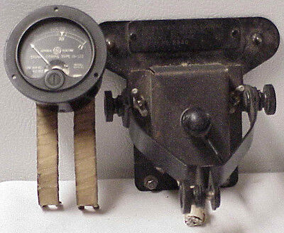 Vtg U.s. Switch Gl-843-Ao & Ge Meter Signal Corps Type Is-122 Model 8Aw-41 Ac.dc