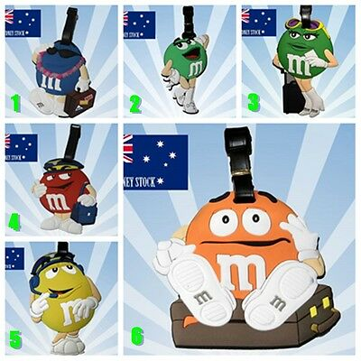 M&M Characters Travel Luggage School Sport Bag Tag Name Address ID Suitcase OZ