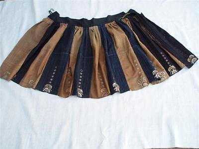 Miao Tujia Woman's  Antique Silk/ Cotton Skirt Embroidery  China