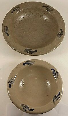"Lot of (2) Rowe Pottery Bowl 6"" & 8"""