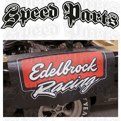 Edelbrock Fender Cover Padded With Racing Logo - Ed2324