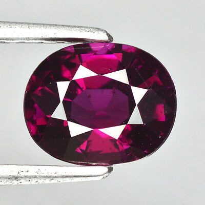 2.550Cts Charming! Hi-End Sparkling Gem! Raspberry Pink Rhodolite Natural Garnet