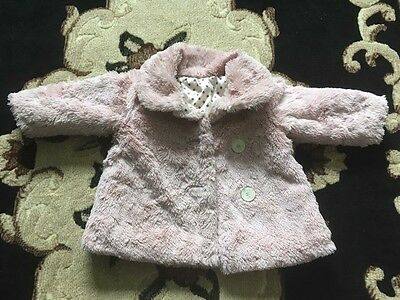 Baby Toddler Girl 9-12m Pink Fur Coat