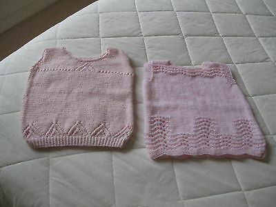 Baby Jumper 2  Colour Pink  Soft Wool Machine Washable Hand Knitted