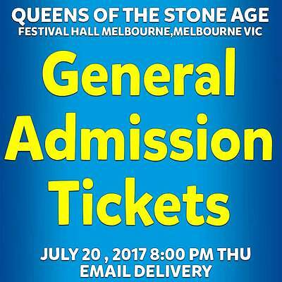 Queens Of The Stone Age | Melbourne | General Admission Tickets Thu 20 Jul 2017