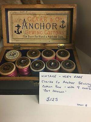 Clarke And Co Anchor Sewing Reel Box