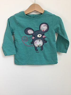 Next Mouse Long Sleeved Top 9-12 Baby Girl