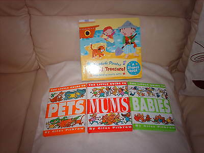 Childrens Book Peephole Pirates Buried Treasure + 3 Books The Little Guide To