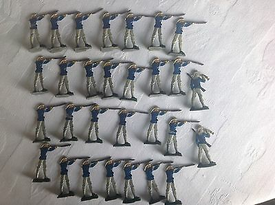Collection Of Vintage Flat Lead Soldiers