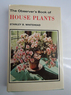 Vintage The Obsevers Book of House Plants With dust cover