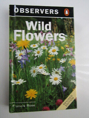Vintage The Obsevers Book of Wild Flowers Hardback Book 1996