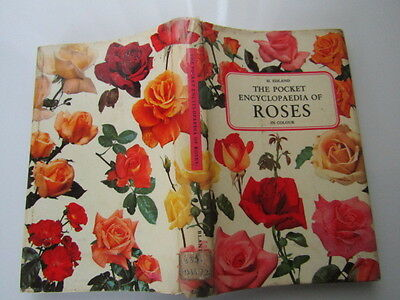 Vintage 1963 The Pocket Encyclopaedia of Roses Gardening Book [Ex-Library book]