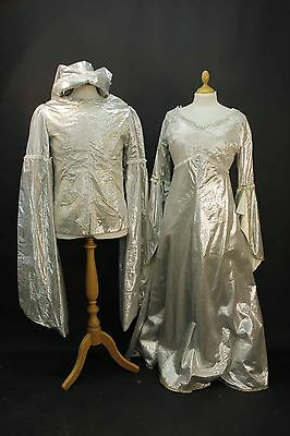 2 x Silver Medieval Romeo & Juliet Costumes