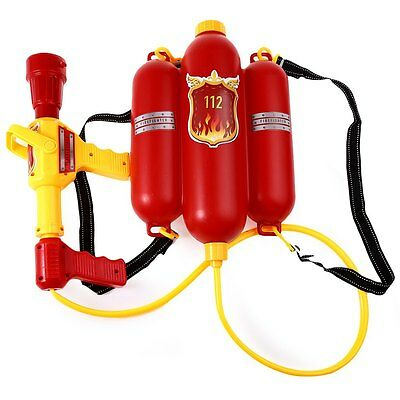 Fire Fighter Backpack Water Pistols Toy Gun Shooter Toddler Outdoor Games Kids