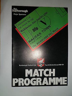 Scarborough V Halifax Lc 1St Rnd 1988/89