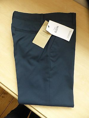 """BNWT Marks & Spencer """"Kids"""" Boys Navy Mix Trousers  Age 12-13"""