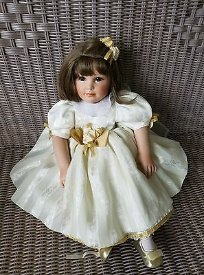 "Marie Osmond doll porcelain Ann Marie Holiday in chiffon dress 23""  0777/5000"