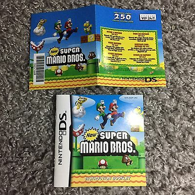 New Super Mario Nintendo DS. MANUAL AND POINTS CARD ONLY.