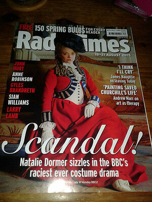 RADIO TIMES Magazine - NATALIE DORMER - Scandalous Lady W - August 2015