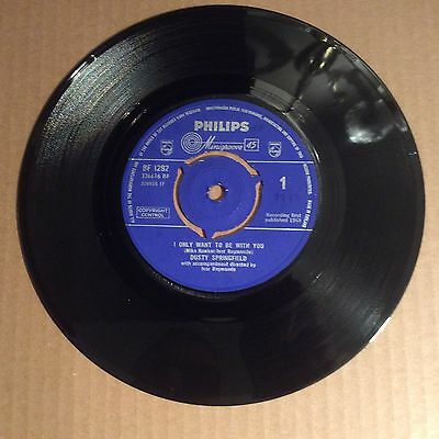 "Dusty Springfield - I Only Want To Be With You 1963 Philips 7"" Single Record"