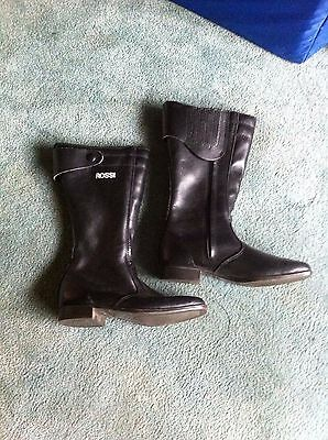 Rossi Ladies Leather MotorBike Boots size 7