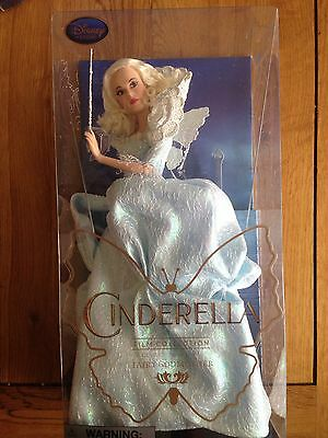 "Disney Store Cinderella Fairy Godmother Collectors Doll 11"" Live Action Film Mib"