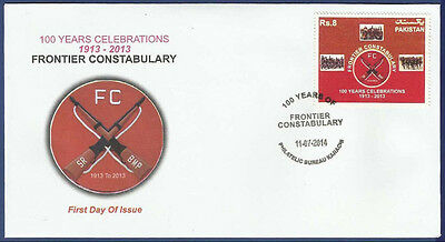 Pakistan Mnh 2014 Fdc 100 Years Of Fc Frontier Constabulary Force Arms Militaria