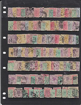 STAMPS..Australia..Victoria x 125 , all sorts , used, look closely