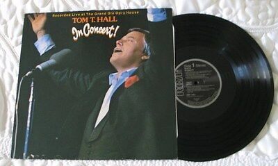 TOM T HALL 'In Concert' Great OLE Record - see main section