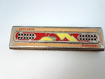 Vintage M. Hohner Echo-Luxe Harmonica Double Sided Germany