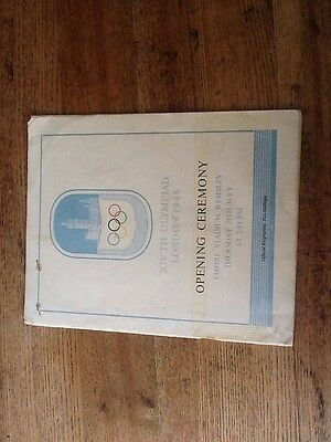 1948 Olympic Opening Ceremony Programme