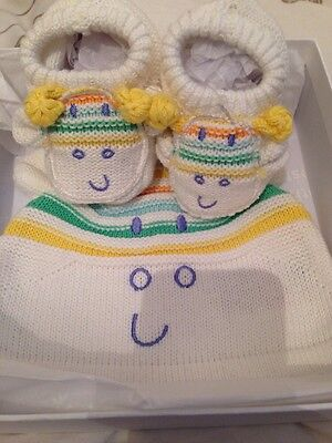 Babys Giraffe Hat And Booties Set By Mothercare Boxed Gift Brand New Boy/girl