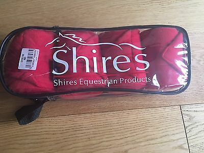 Shires Set Of 4 Red Fleece Bandages New