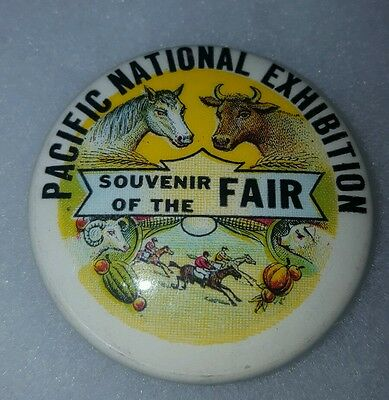 1930s CELLULOID PINBACK PACIFIC NATIONAL EXHIBITION