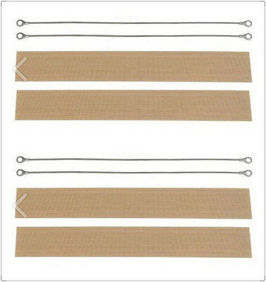 4X 2mm heating element and Teflon cover  for 300mm hand sealer