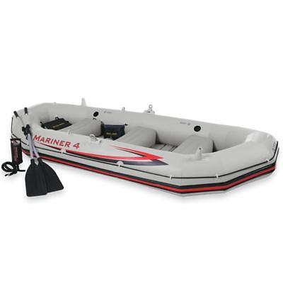 INTEX 68376 Mariner 4 Bateau Gonflable Canot Pneumatique Canoe Rames Sport