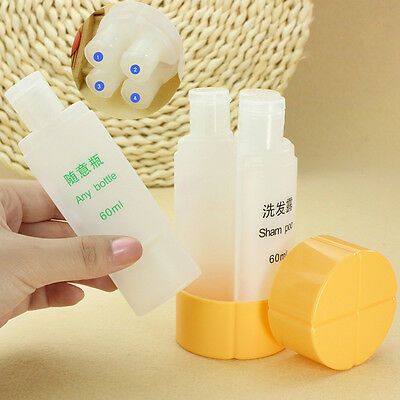 Travel Set Empty Bottles Refillable Shampoo Shower Bag Containing 4 in 1