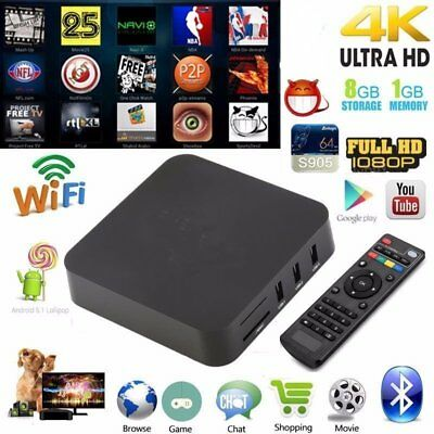 1080P WiFi HDMI S905 4-Core 8GB Android 5.1 64 bits Bluetooth Smart TV Box FT