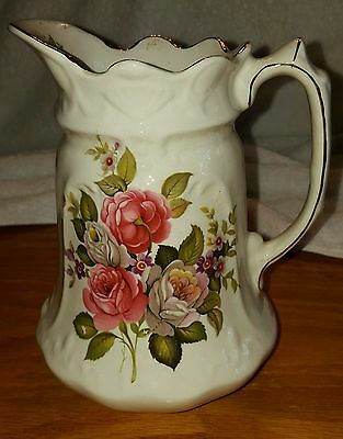 Old Foley James Kent Ltd. Harmony Rose Small Porcelain Pitcher Made in England
