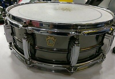 """Ludwig LB416 14"""" x 5.5"""" Black Beauty Snare Drum - In Hard Case"""