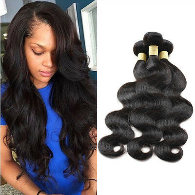 300gram 3 Bundles Body Wave Tissage Brazilian Naturel Remy Hair Cheveux Humains