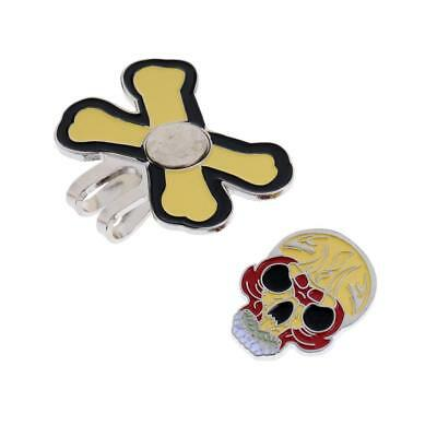 Sturdy Cool Skull Magnetic Hat Clip Golf Ball Marker Suit for Golf Cap Visor